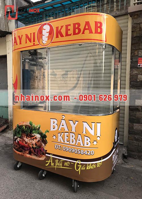 Giá bán trọn bộ xe bánh mì Thổ Nhĩ Kỳ kính cong
