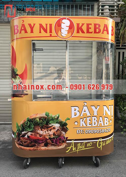 Trọn bộ xe bánh mì Thổ Nhĩ Kỳ kính cong inox