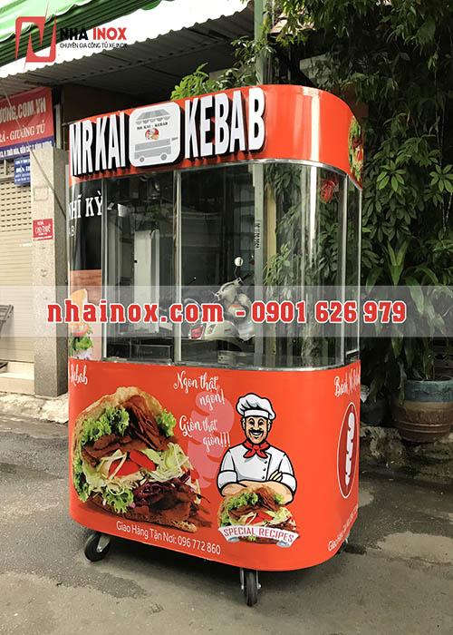 Xe bánh mì Thổ Nhĩ Kỳ chữ nổi, kính cong đẹp