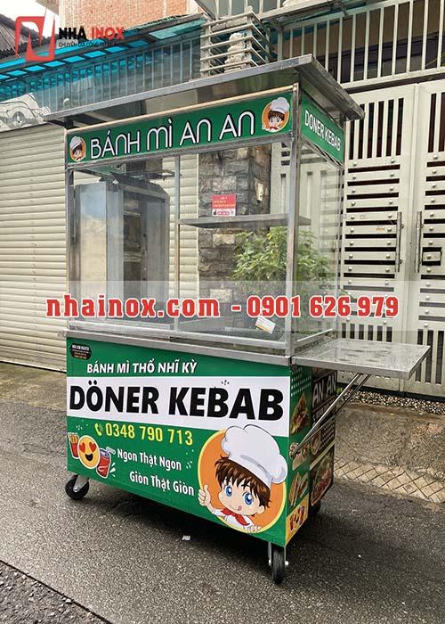 Xe Doner Kebab mẫu vuông giá rẻ