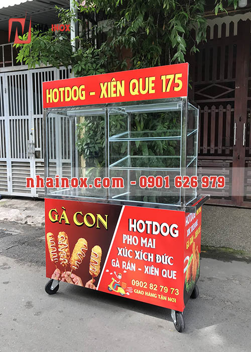 Xe gà rán inox giá rẻ