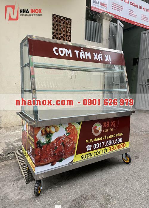 Xe bán cơm inox