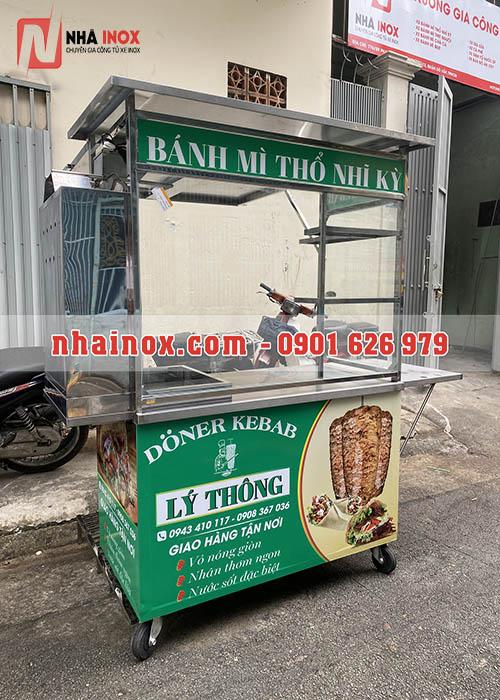 Xe bánh mì Doner Kebab mẫu vuông