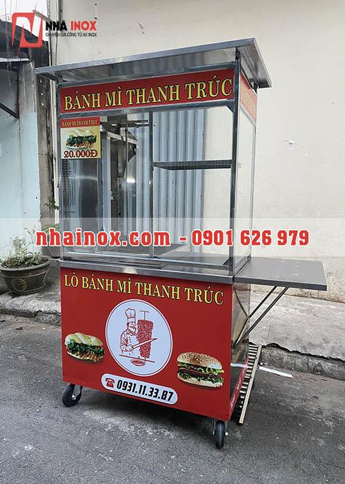 Xe bánh mì Thổ Nhĩ Kỳ inox chất lượng