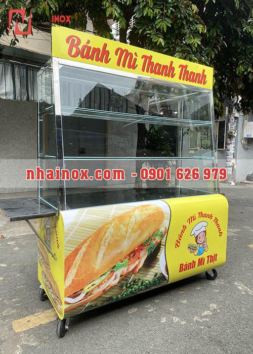 Tủ bánh mì đẹp thùng cong inox