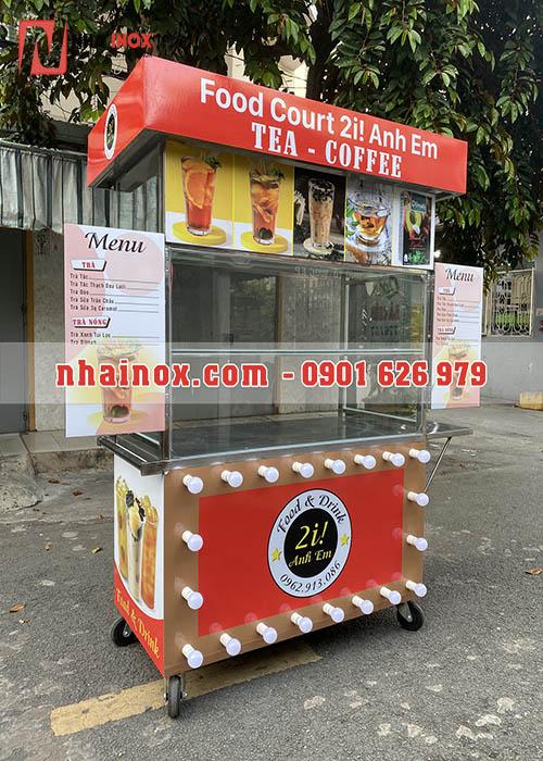 Tủ trà sữa ăn inox mẫu mới