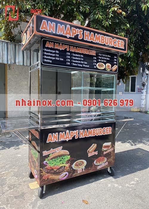 Xe bán bánh mì hamburger