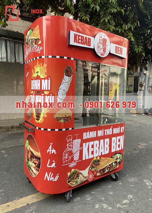 Xe bánh mì Thổ Nhĩ Kỳ kèm bảng đèn kebab