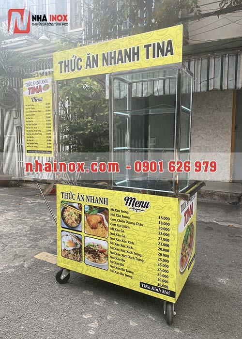 Xe bán thức ăn nhanh nhỏ gọn