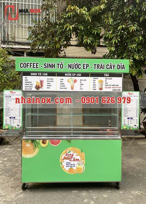 Xe bán cafe, trà sữa, sinh tố, trái cây