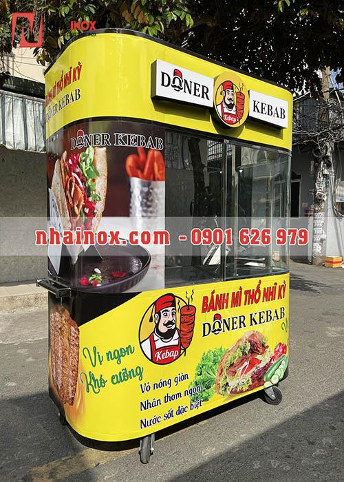 Xe bánh mì Thổ Nhĩ Kỳ inox đường phố
