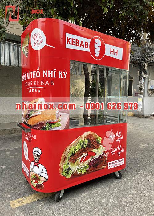 Xe bánh mì Thổ Nhĩ Kỳ kebab kính cong