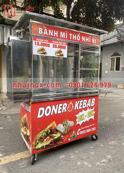 Xe đẩy bánh mì Thổ Nhĩ Kỳ kebab