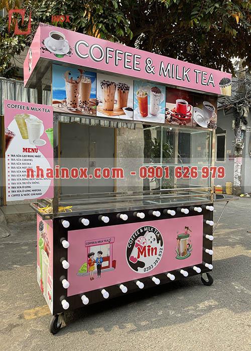 Xe trà sữa màu hồng đẹp