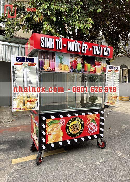 Tủ xe sinh tố nước ép trà sữa trái cây SP026