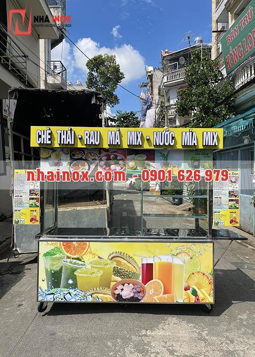 Xe bán chè thái trà sữa rau má 2M SP007