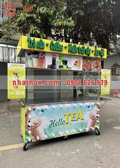 Xe trà sữa coffee nước trái cây ăn vặt SP016