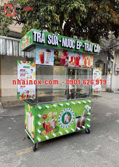 Xe trà sữa nước ép trái cây thiết kế đẹp SP022