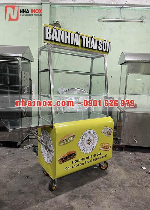 Tủ bánh mì thùng cong chữ nổi SP034
