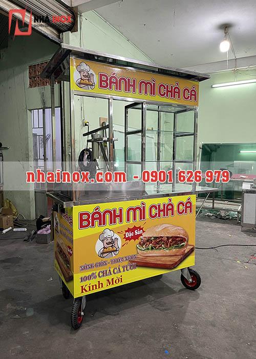 Tủ xe bánh mì chả cá SP053