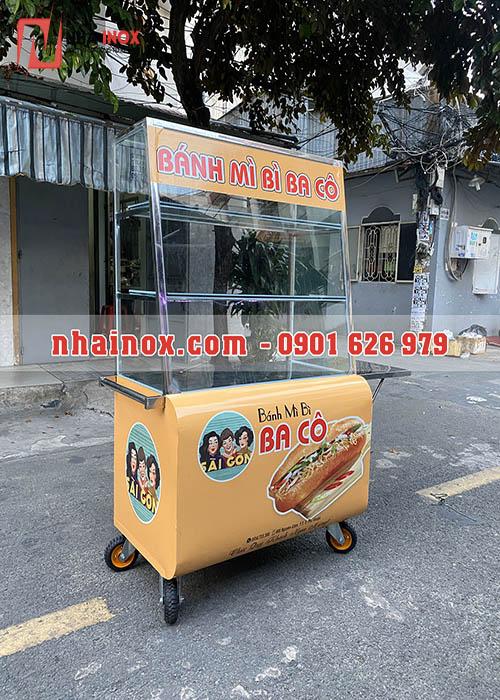 Xe bánh mì đẹp inox SP106
