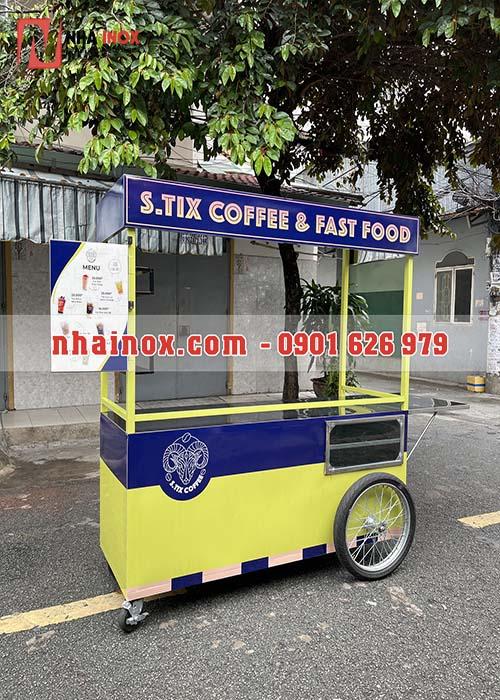 Xe cafe mang đi inox SP107