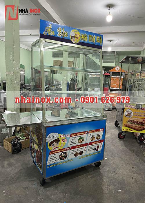 Xe inox bán đồ ăn vặt SP105